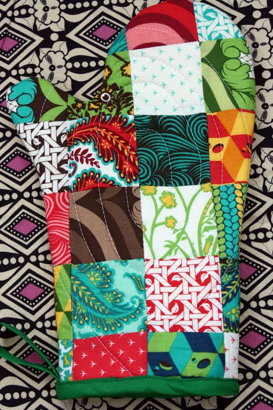 Patchwork Oven Mitts Sew Sweetness