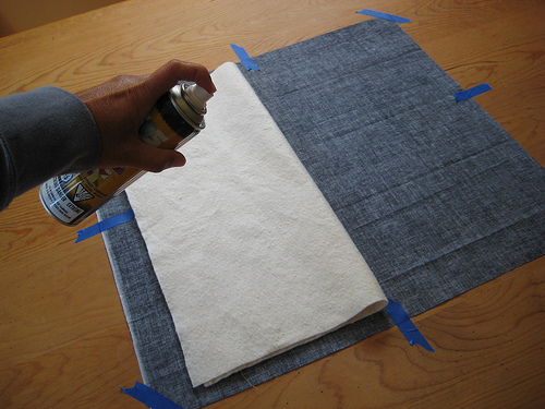Spray basting tute by Poppyprint