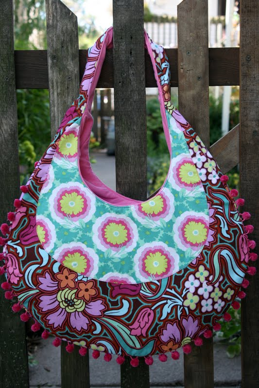 Amy Butler Fringed Hobo Bag Sew Sweetness