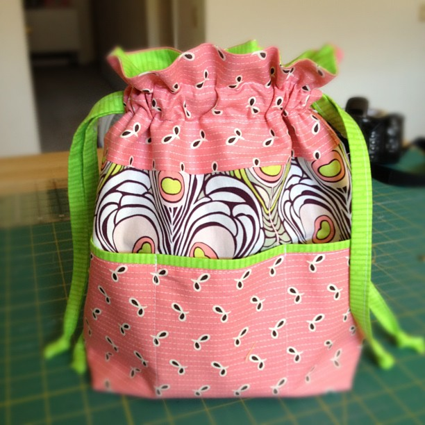 Purse Palooza :: Pattern Review: In Color Order Lined Drawstring ...