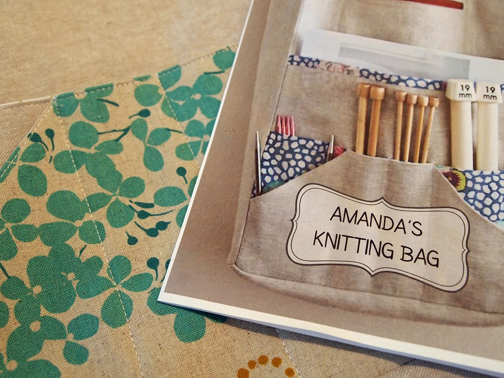 Knitting Bag Pattern To Sew : Purse Palooza :: Pattern Review: The Sometimes Crafter Amandas Knitting ...