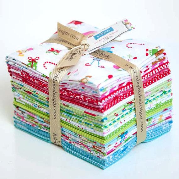 Santa's Workshop Fat Quarter Bundle-Riley Blake Fabric