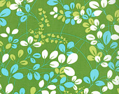 Sprigs in Lime Green - 1 yard