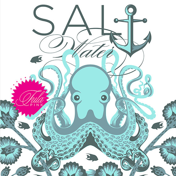 PREORDER - Salt Water Fat Quarter Bundle - Entire Collection - Tula Pink for FreeSpirit - 24 FQs - Free Shipping US