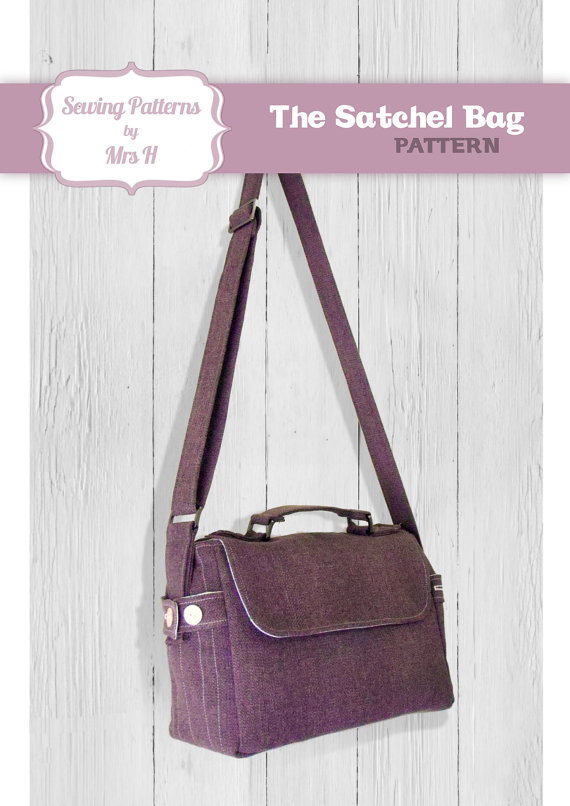Satchel Bag PDF Advanced Sewing pattern - Instant Download