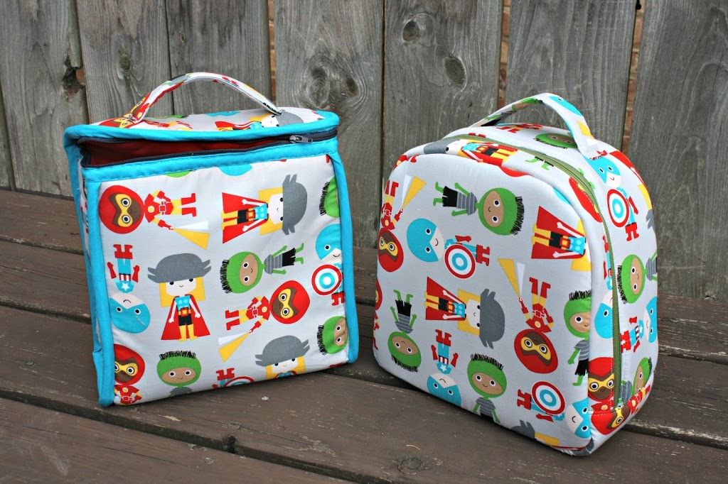 Peas and corn lunch bags sew sweetness