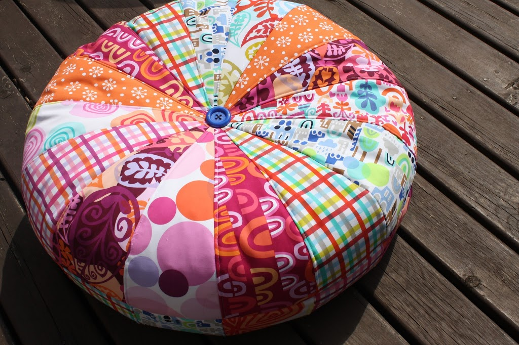 Amy Butler Honey Bun Pouf Sew Sweetness Unique Sew A Pouf
