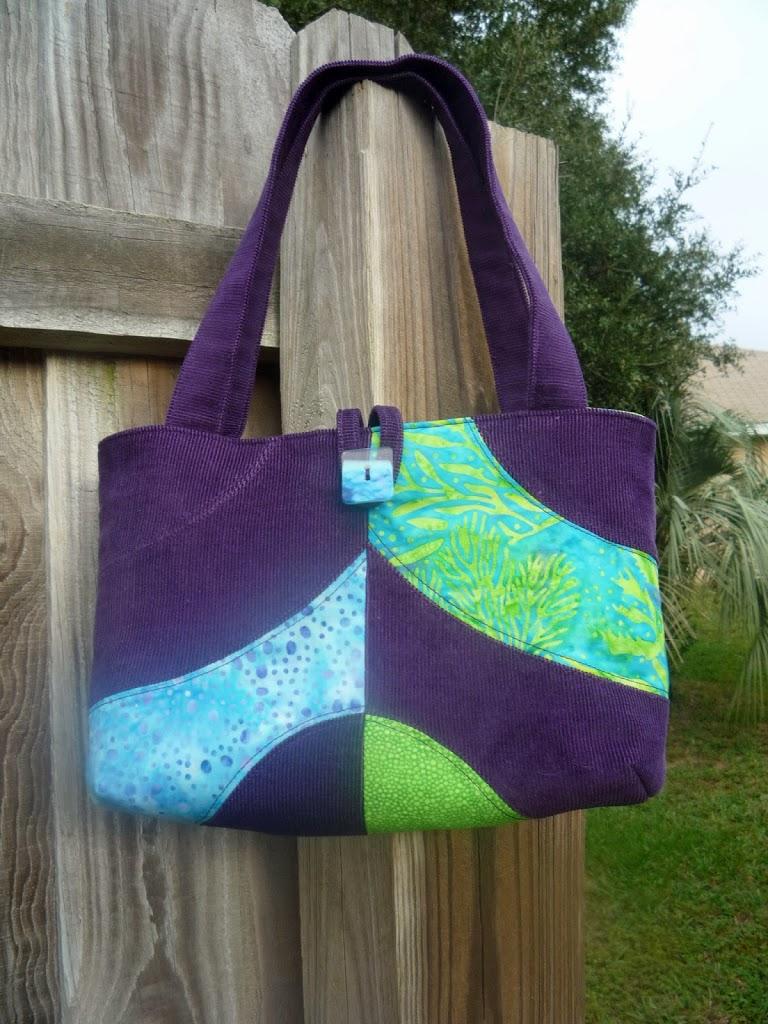 Purse Palooza Pattern Review Corduroy Patchwork Bag