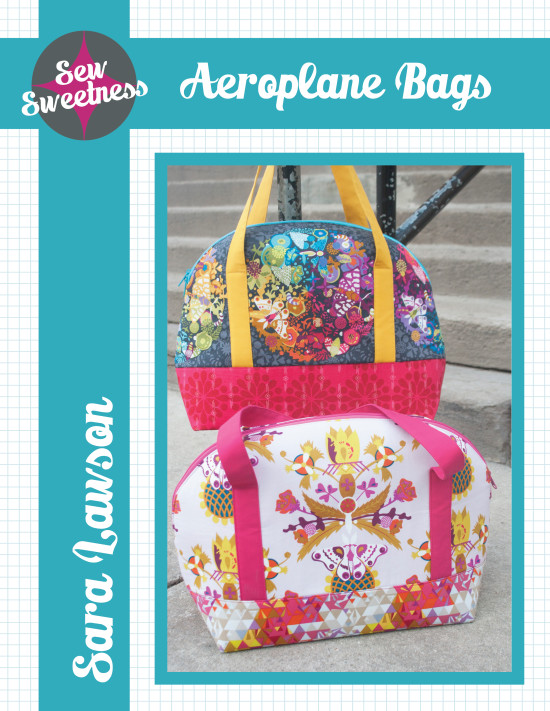 Sew Sweetness Aeroplane Bags sewing pattern