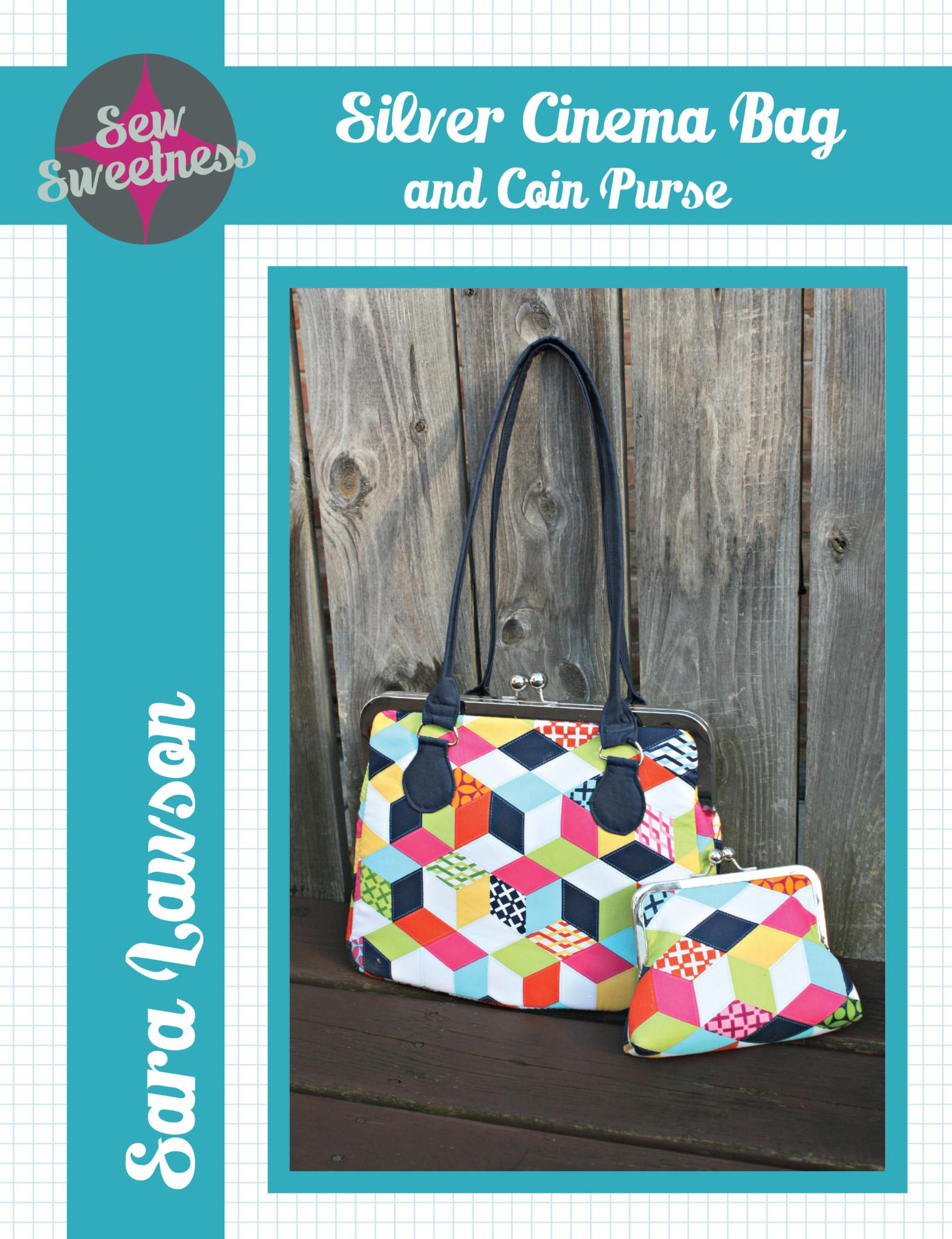 Silver Cinema Bag Pattern - Sew Sweetness