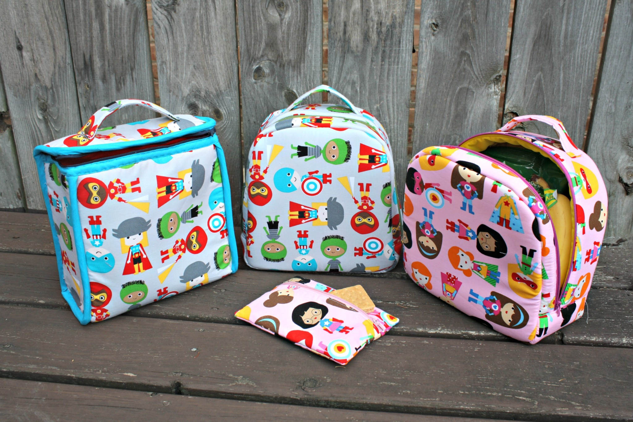 how to make a lunch bag with fabric