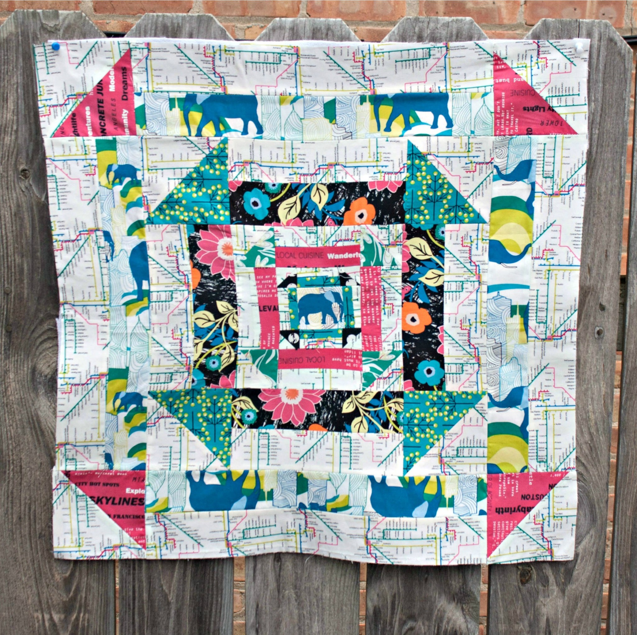 Nested Churn Dash Mini Quilt Sew Sweetness