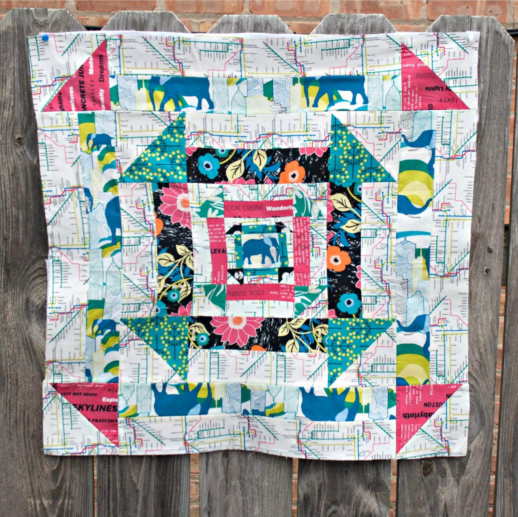 Nested Churn Dash Mini Quilt Sew Sweetness