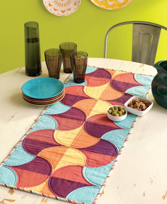 A Quilter's Mixology - Sunrise Table Runner beauty shot