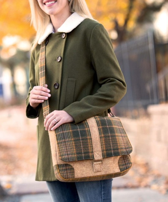 Present Perfect - Wool Courier Bag beauty shot