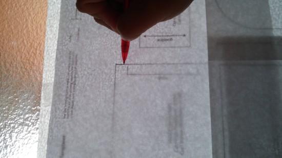 transferring pattern to freezer paper