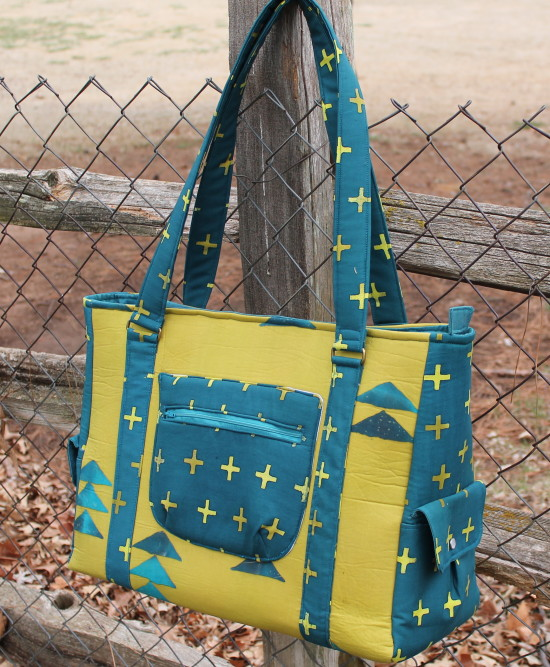 Sew Sweetness Sloan Travel Bag made using Alison Glass Handcrafted fabric by Jamie of Designs by Jamie