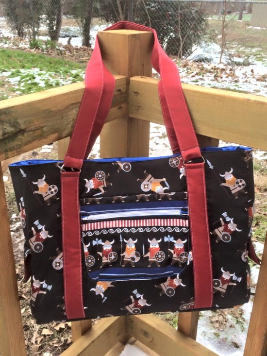 Sew Sweetness Sloan Travel Bag by Angie of Sewing with Squeak