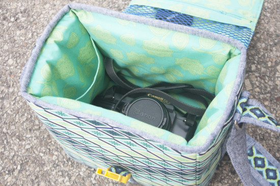 Sew Sweetness Ansel Camera Bag sewing pattern, available in 3 different sizes