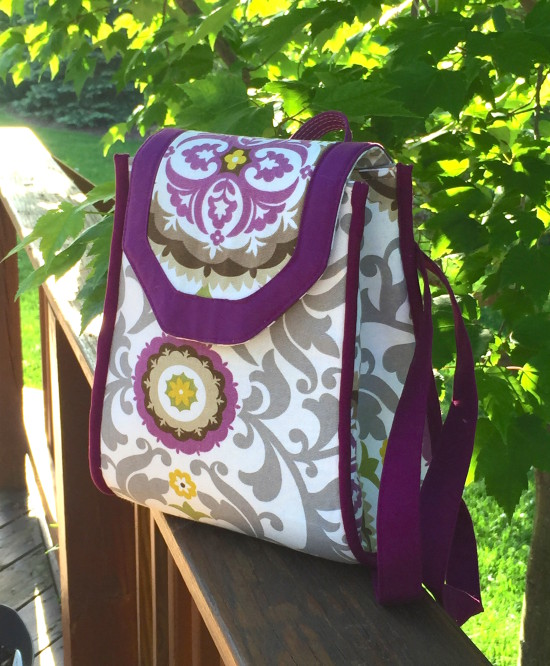 Sew Sweetness Promise Ring Backpack by Cindy of Raspberry Sunshine
