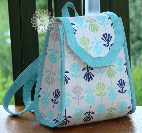 Sew Sweetness Promise Ring Backpack by Gosia of Quilts My Way