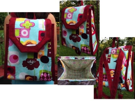 Sew Sweetness Promise Ring Backpack by Maria of Beautiful Blooms