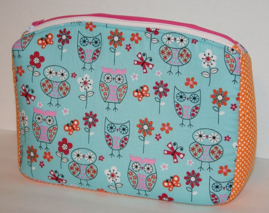 Sew Sweetness Filigree Double-Zip Pouch, sewn by Liana