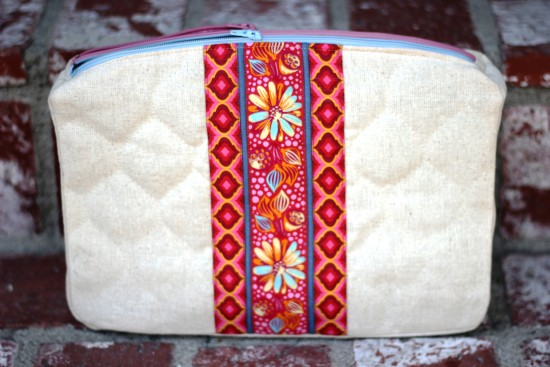Sew Sweetness Filigree Double-Zip Pouch, sewn by SB Stitching