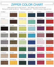 Zipper Color Chart2