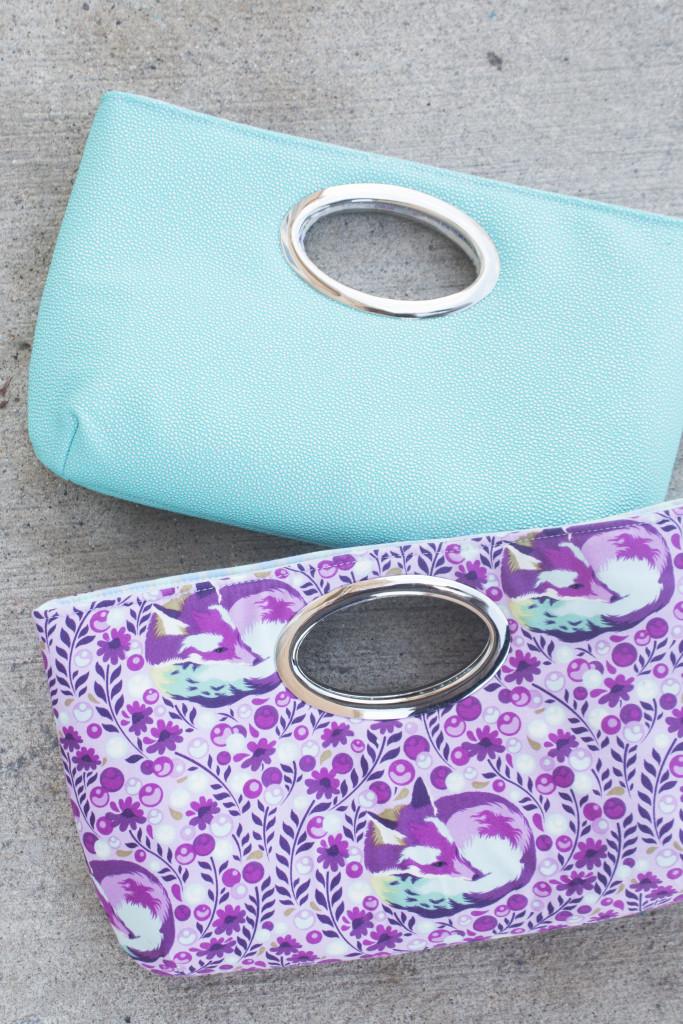 Sew Sweetness Discotech Clutch, a free bag sewing pattern