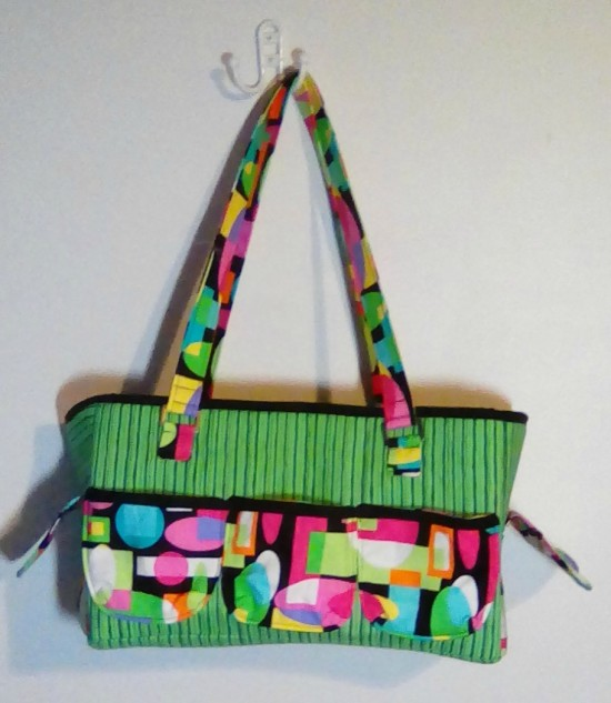 Sew Sweetness Oslo Craft Bag sewing pattern, sewn by Carrie