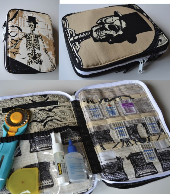 Sew Sweetness Ultimate Art Organizer sewing pattern, sewn by Crystal of the Cloth Albatross