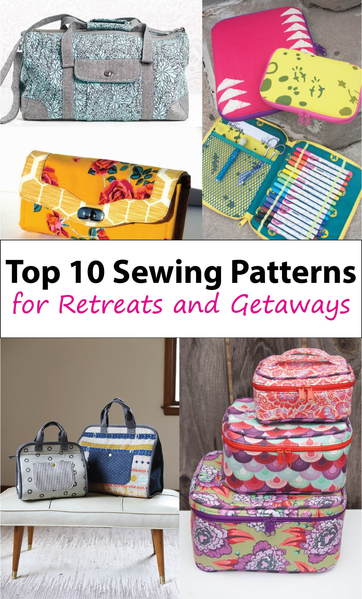 10 Travel Bags for Sewing Retreats - Sew Sweetness