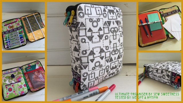 Sew Sweetness Ultimate Art Organizer sewing pattern, sewn by Tracy of I've Got a Notion