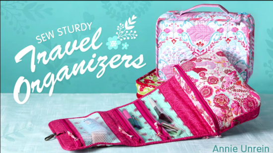 Craftsy review of Sew Sturdy Travel Organizers