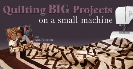 Craftsy class review - Quilting Big Projects on a Small Machine
