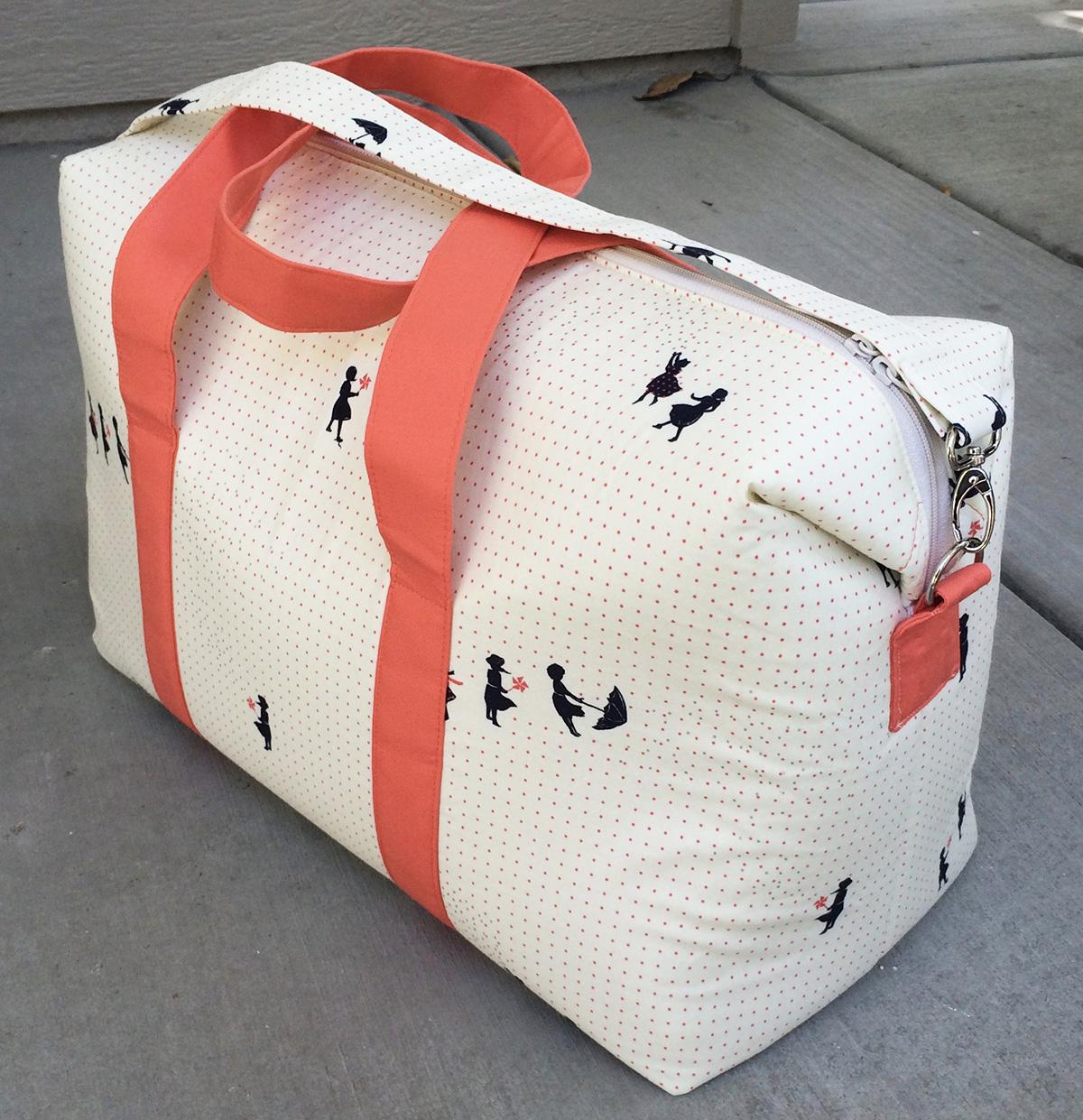 Sew Sweetness Emblem Duffle Bag, sewn by Carina