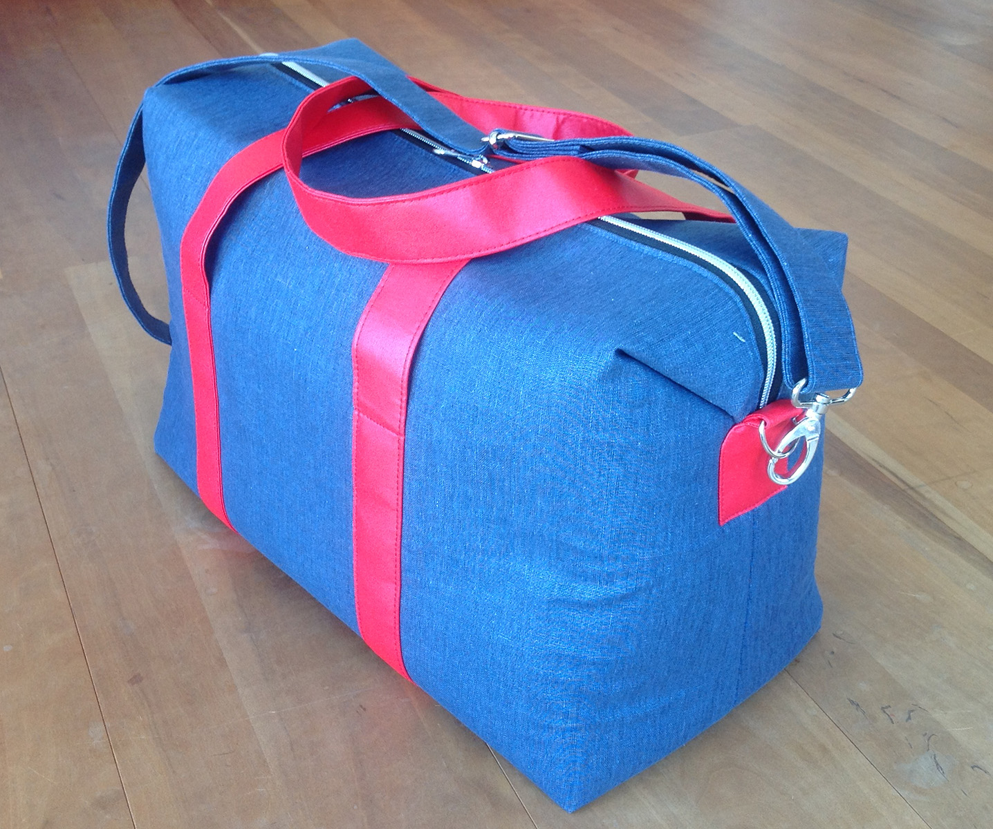 Sew Sweetness Emblem Duffle Bag, sewn by Barbara