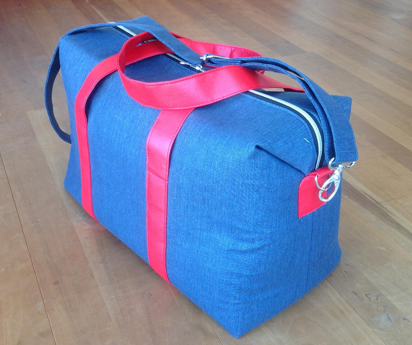 Sew Sweetness Emblem Duffle Bag, sewn by Barbara
