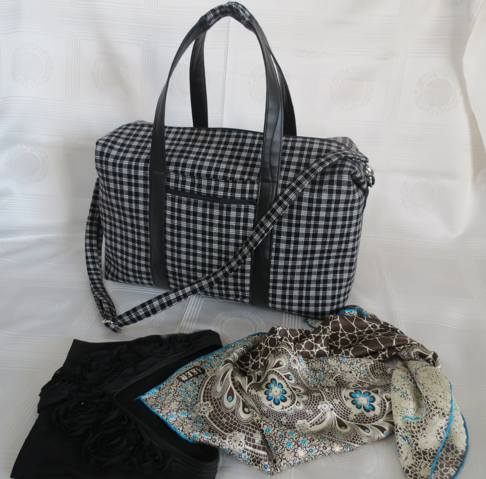 Sew Sweetness Emblem Duffle Bag, sewn by Maria