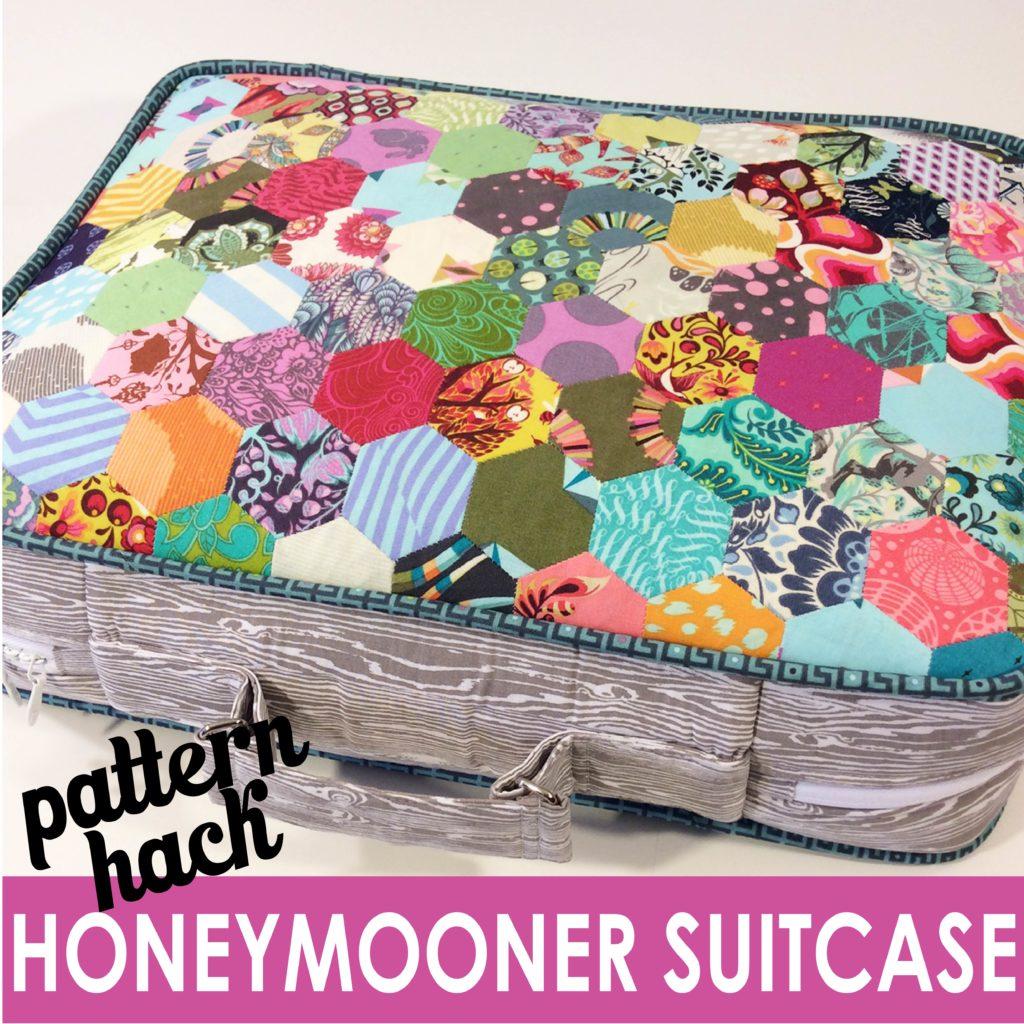 Honeymooner Suitcase pattern hack, original pattern from Big-City Bags book