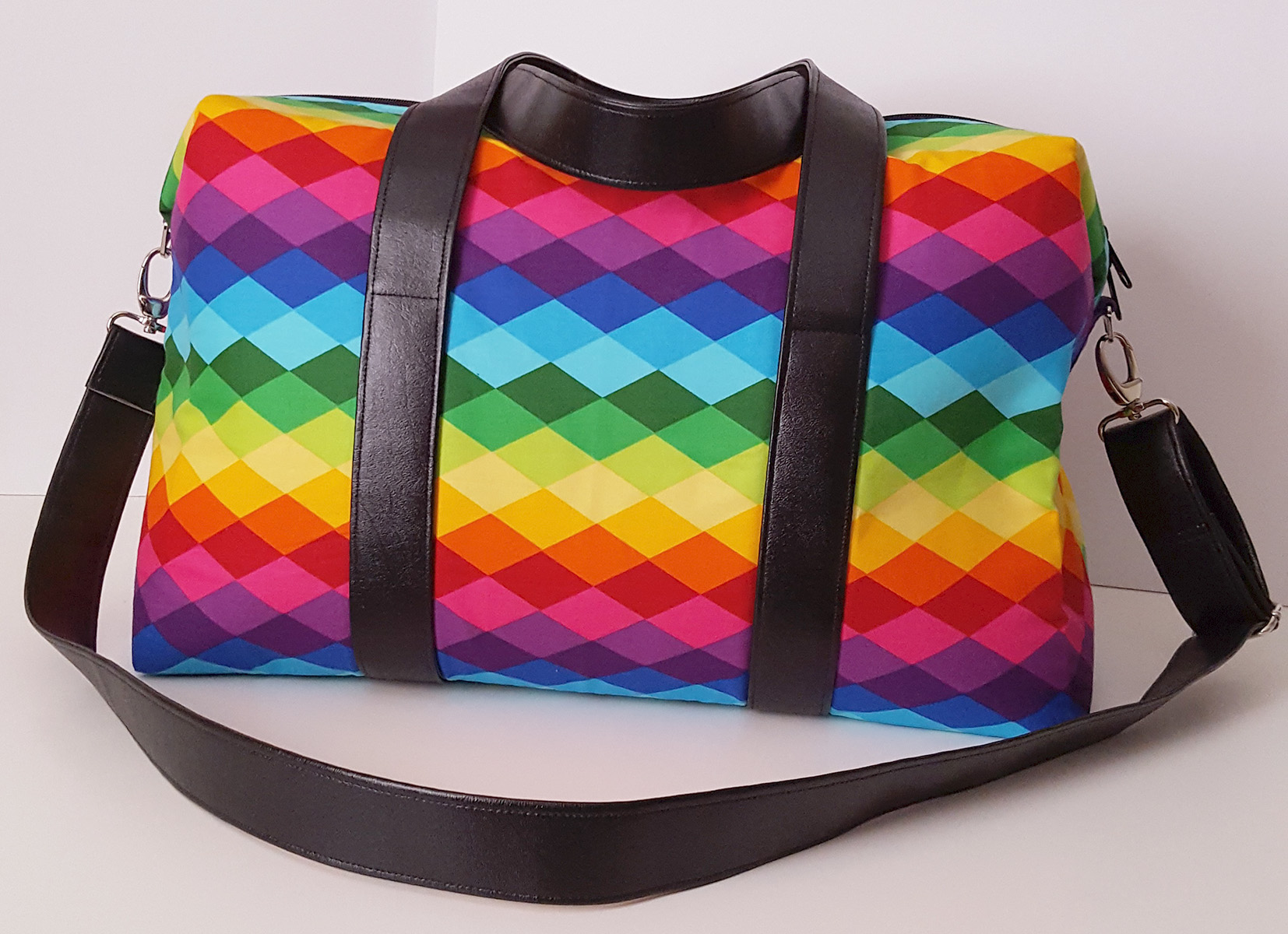Sew Sweetness Emblem Duffle Bag, sewn by Melissa
