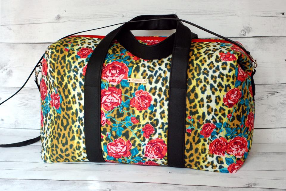 Sew Sweetness Emblem Duffle Bag, sewn by Amber of Roar Haus