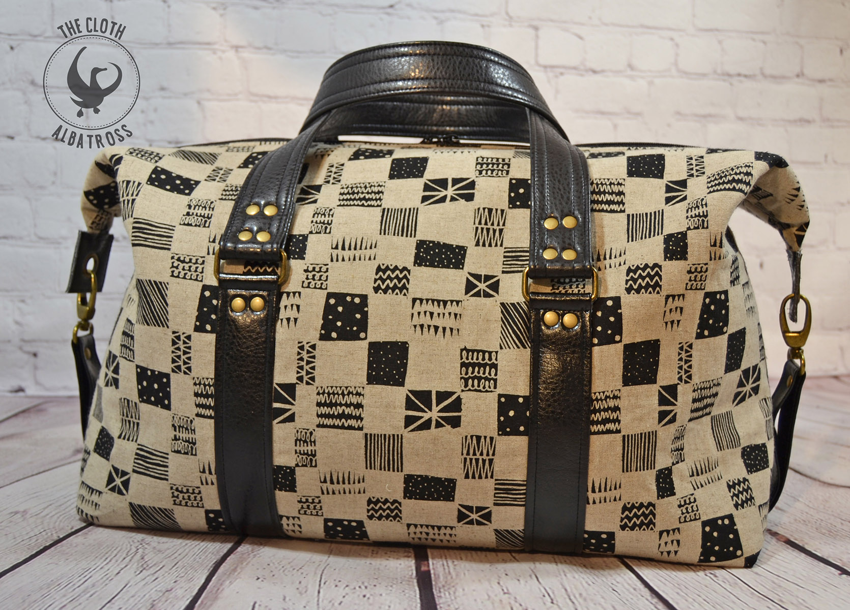 Sew Sweetness Emblem Duffle Bag, sewn by Crystal of the Cloth Albatross