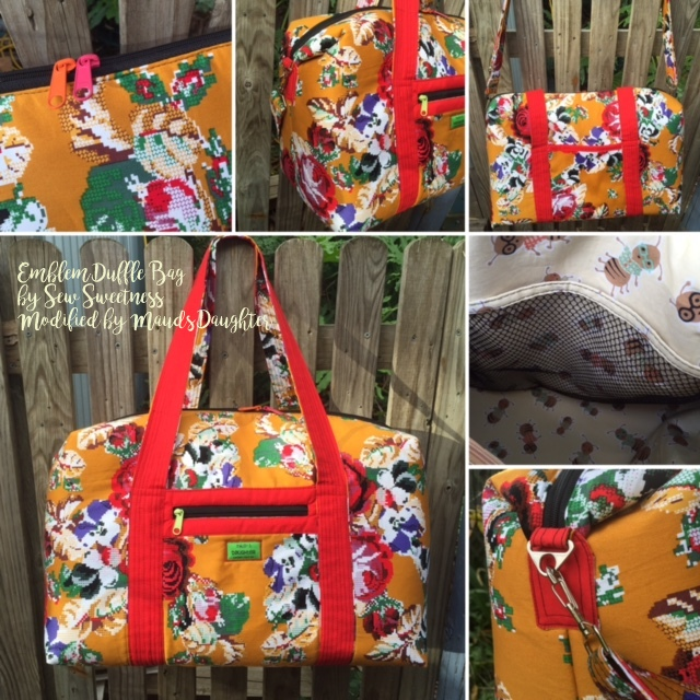 Sew Sweetness Emblem Duffle Bag, sewn by Tracy of I've Got a Notion
