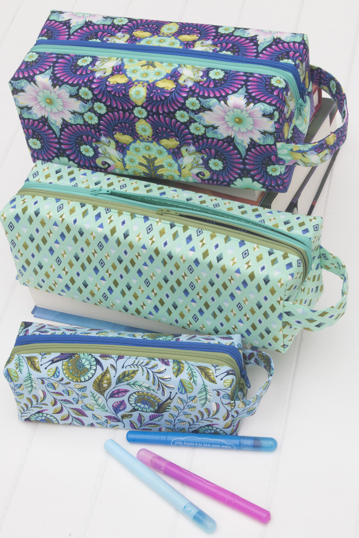 Sew Sweetness Annex Double-Zip Box Pouch sewing pattern