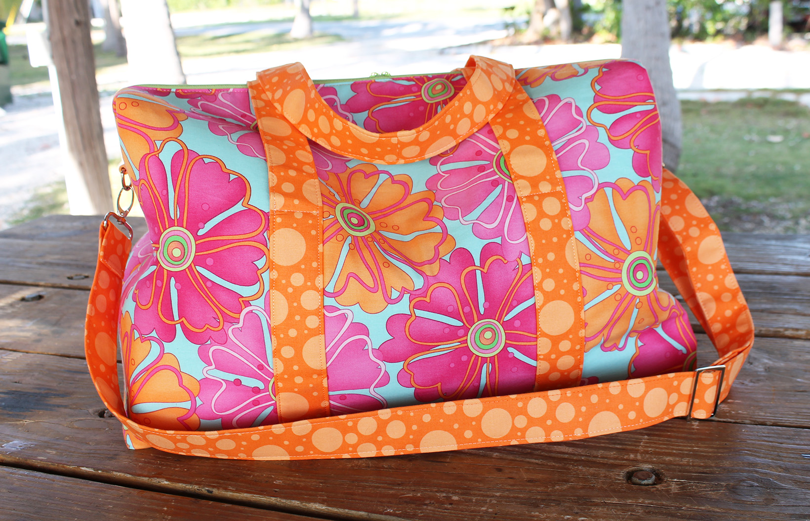 Sew Sweetness Emblem Duffle Bag, sewn by Marvelous Auntie M