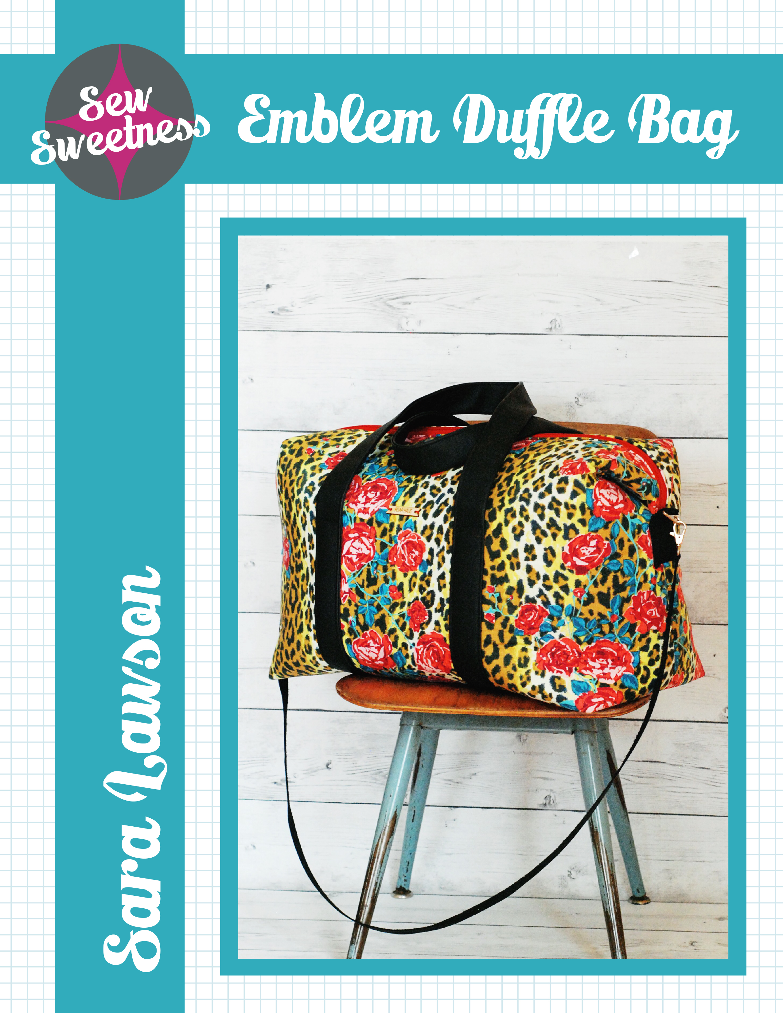 Sew Sweetness Emblem Duffle Bag sewing pattern