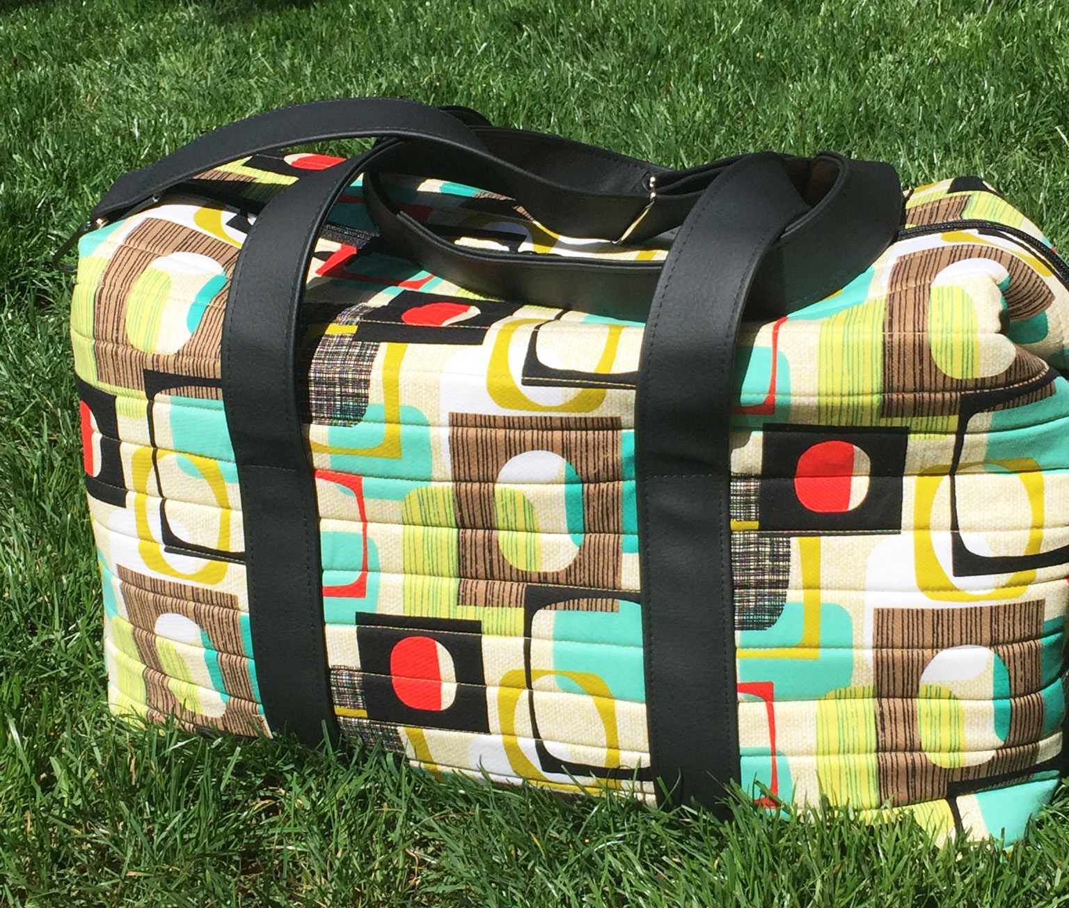 Sew Sweetness Emblem Duffle Bag, sewn by Colleen