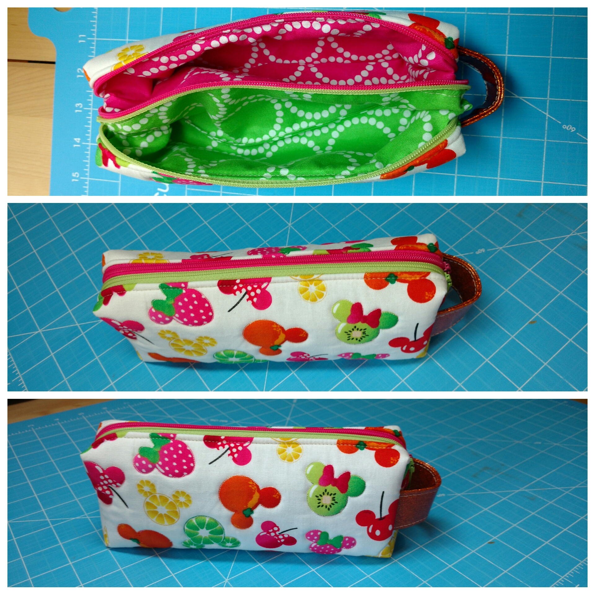 Sew Sweetness Annex Double-Zip Box Pouches, sewn by Bree of My Crafty Crap